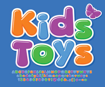 kids' toys - with colorful alphabet, numbers, and symbols