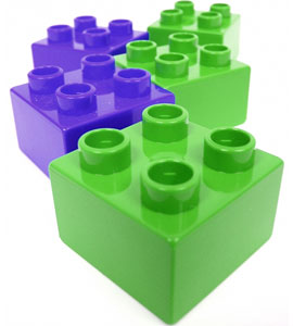 colorful building block toys