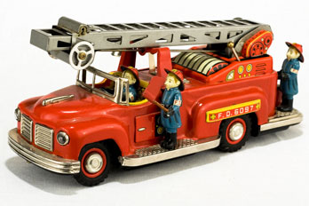 vintage toy fire truck